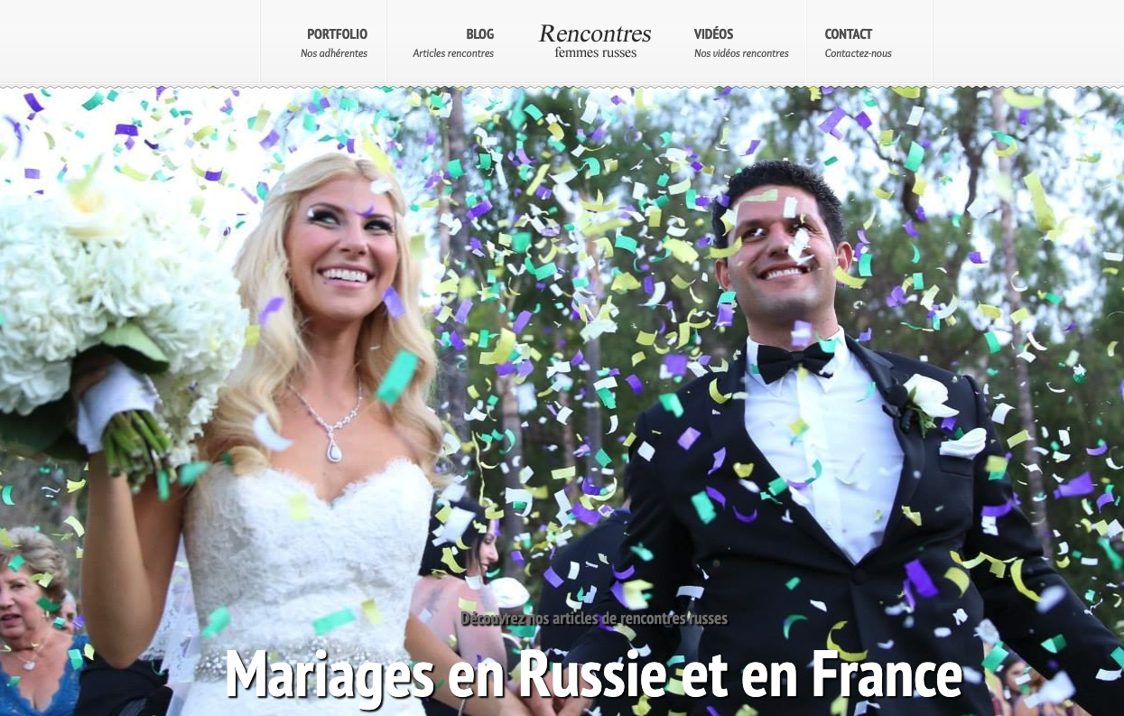 Russie-France-Mariage